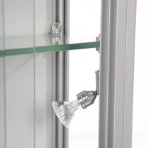 Glasmonter Showcase Wall Duo, Silver