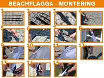 Beachflagga Haj Premium (aluminium) - Medium