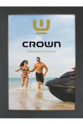 Crown 70x100cm 33mm - Svart
