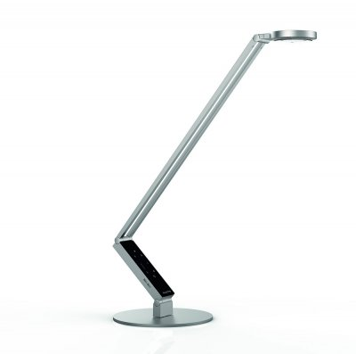 bordslampa i silver, LUCTRA Pro rund