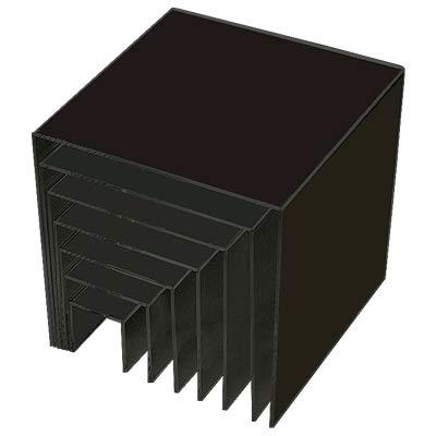 Nya Svarta akrylhyllor för att exponera varor. Köp billigt på skyltab.se FX-43