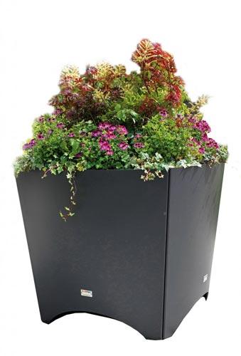 Blomlådor för stadsmiljö och parker