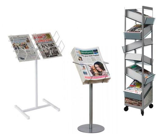 Stativ för tidningar och magasin