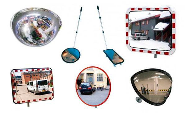 övervakningsspeglar och trafikspeglar