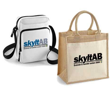 väskor med tryck